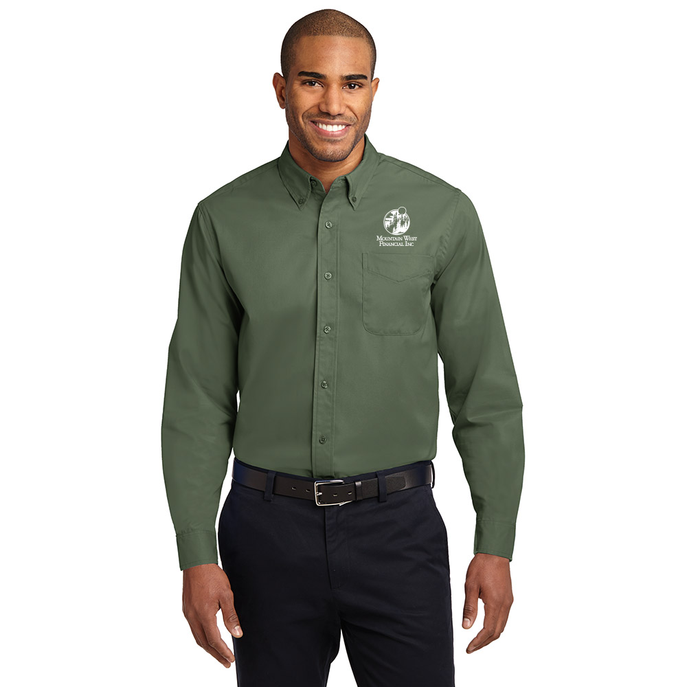Port Authority Long Sleeve Easy Care Shirt Available in 27 Colors 2X Dark Green S608